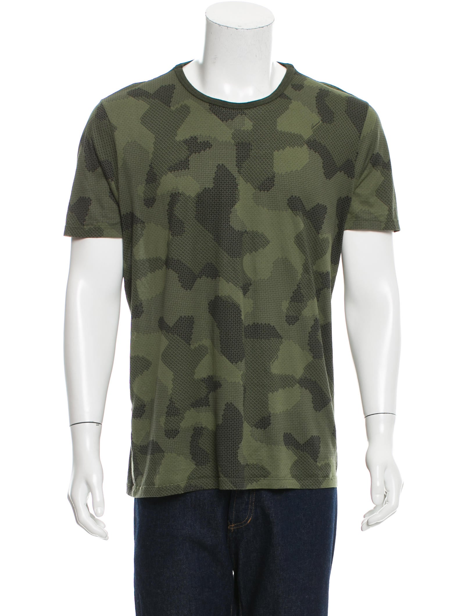 Gucci short sleeve army print t shirt clothing for Printed short sleeve shirts