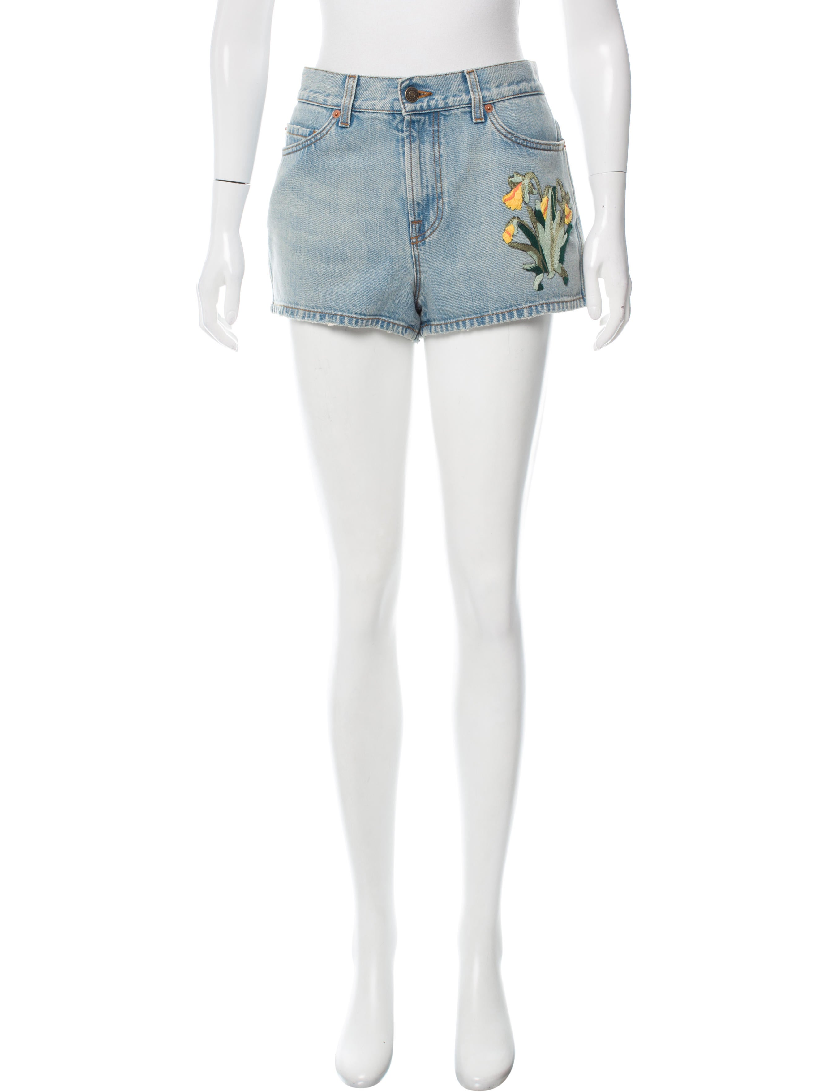 Gucci TigerEmbroidered HighRise Shorts  Shorts