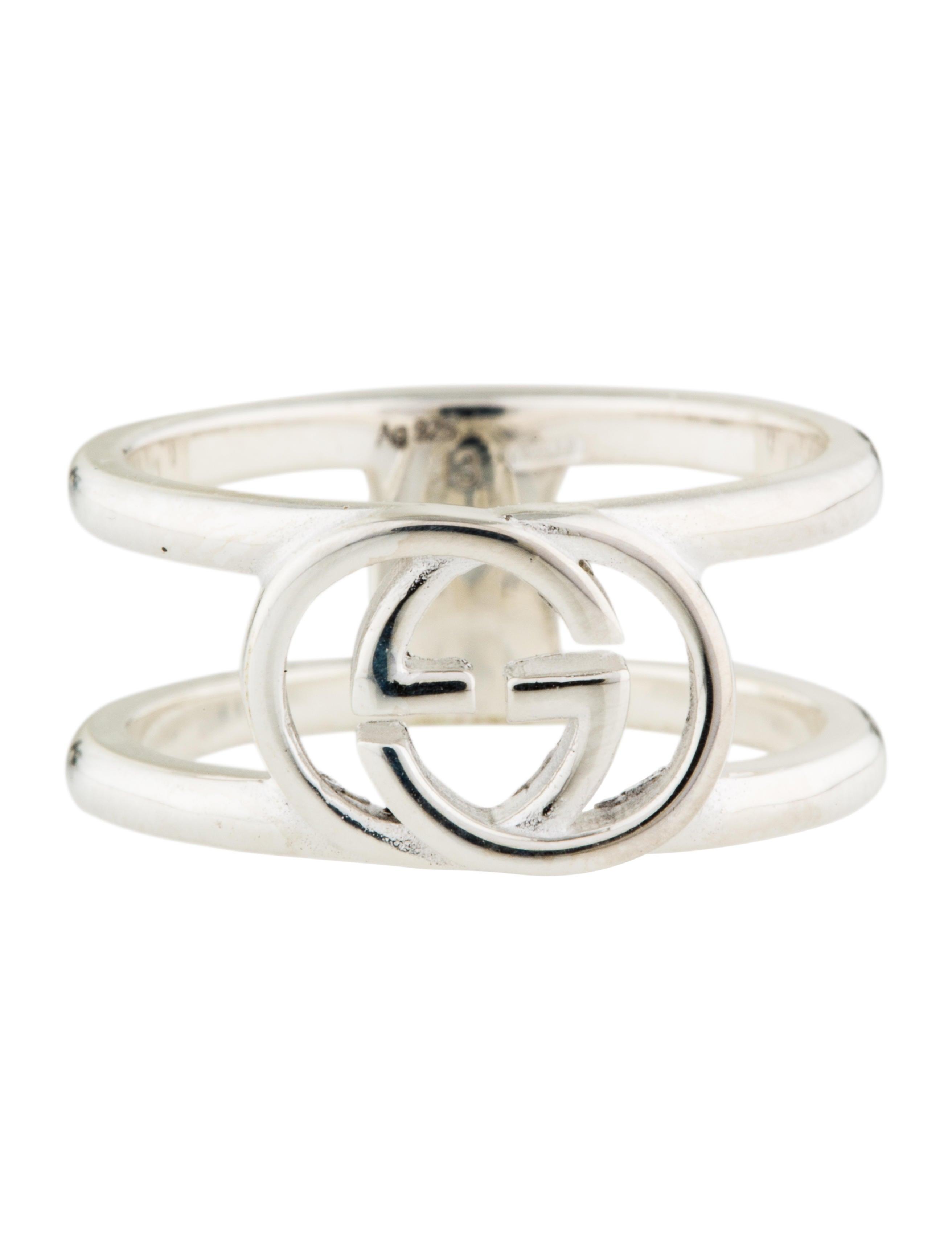 gucci interlocking logo ring rings guc148622 the