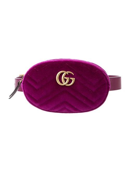 a63704b347d Gucci GG Marmont Matalassé Velvet Belt Bag - Handbags - GUC148659 ...