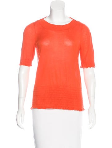 Gucci Short Sleeve Cashmere Top None