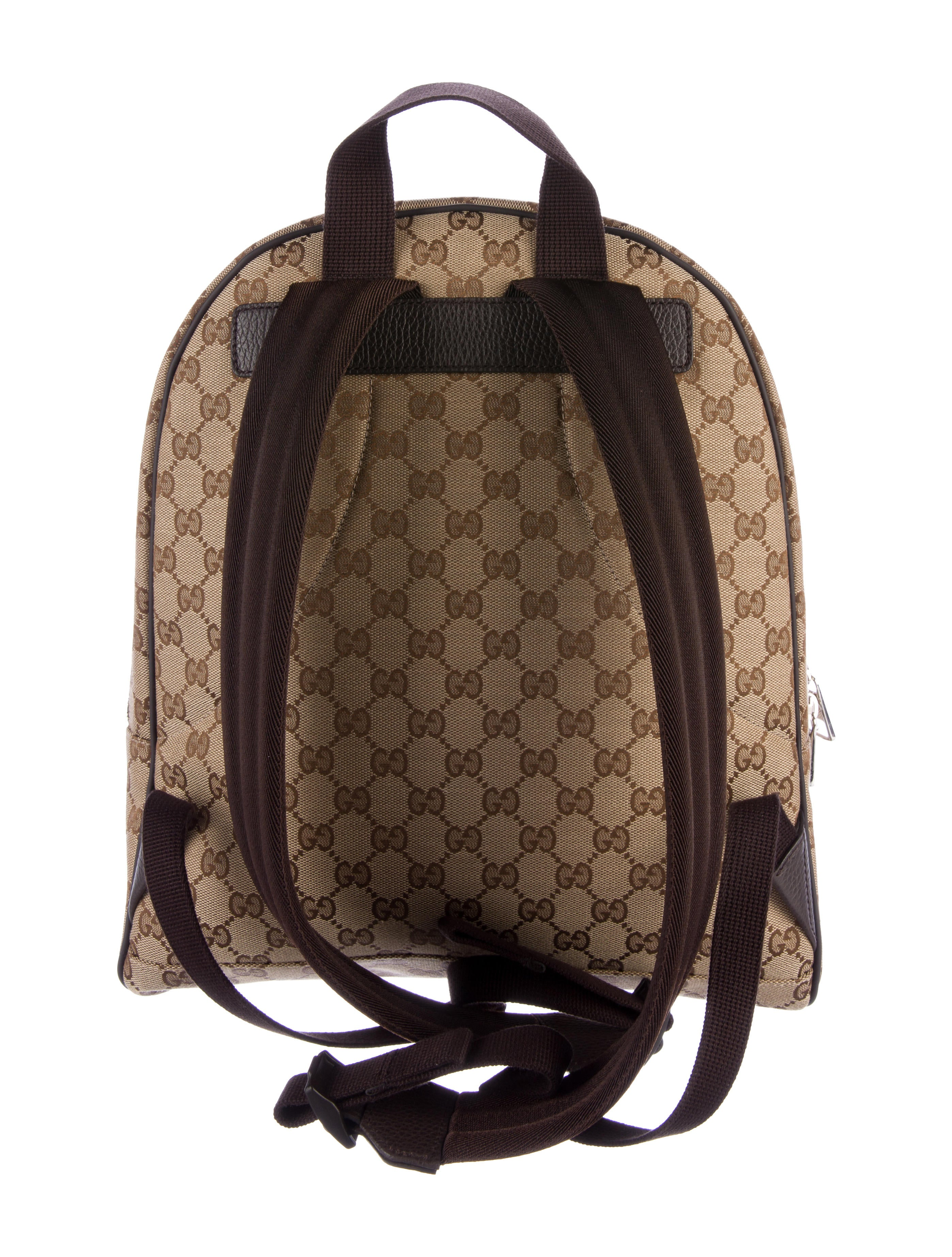 Gucci Gg Canvas Backpack Bags Guc149284 The Realreal