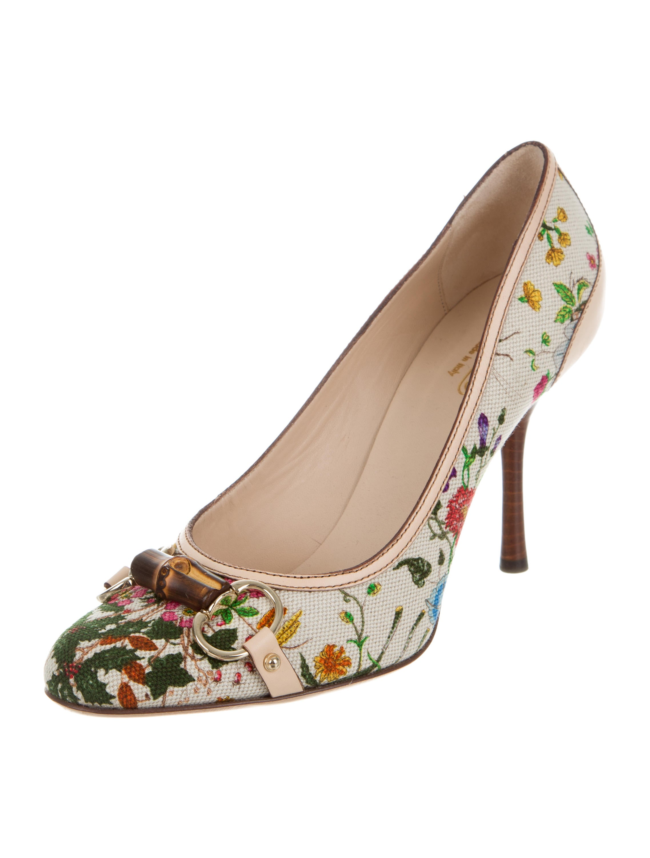 gucci flora horsebit pumps - shoes