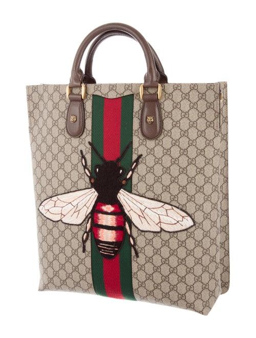 38fe13d89e782e Gucci Web Animalier GG Supreme Tote - Handbags - GUC150108 | The ...