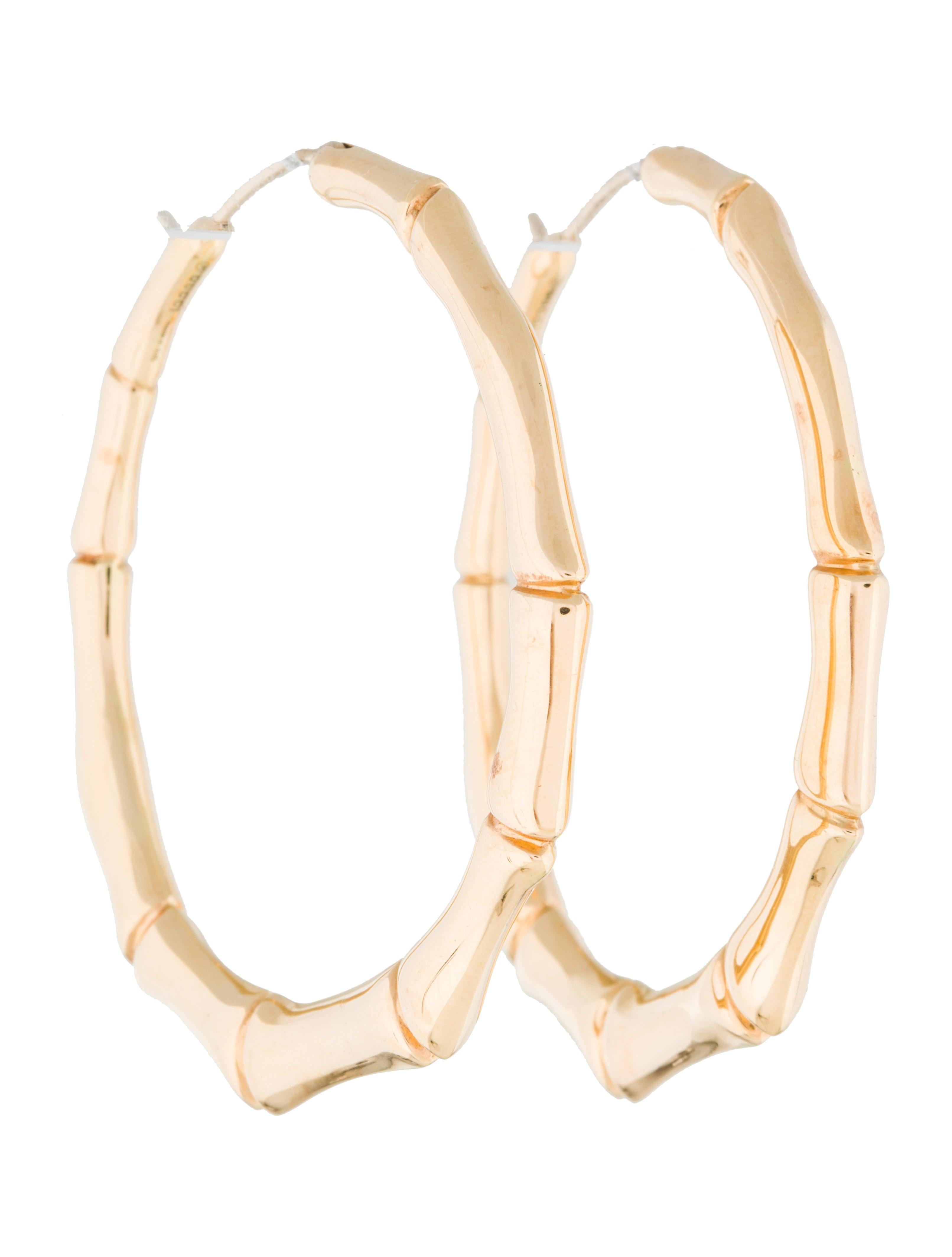 a38e08c06 Gucci 18K Bamboo Hoops - Earrings - GUC150297 | The RealReal