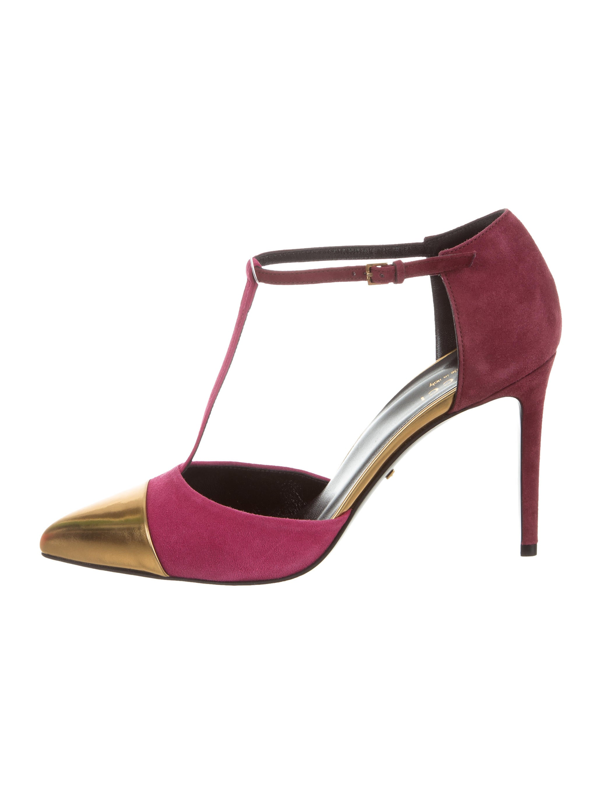41ca52c07596b Gucci Coline T-Strap Pumps w/ Tags - Shoes - GUC150299 | The RealReal
