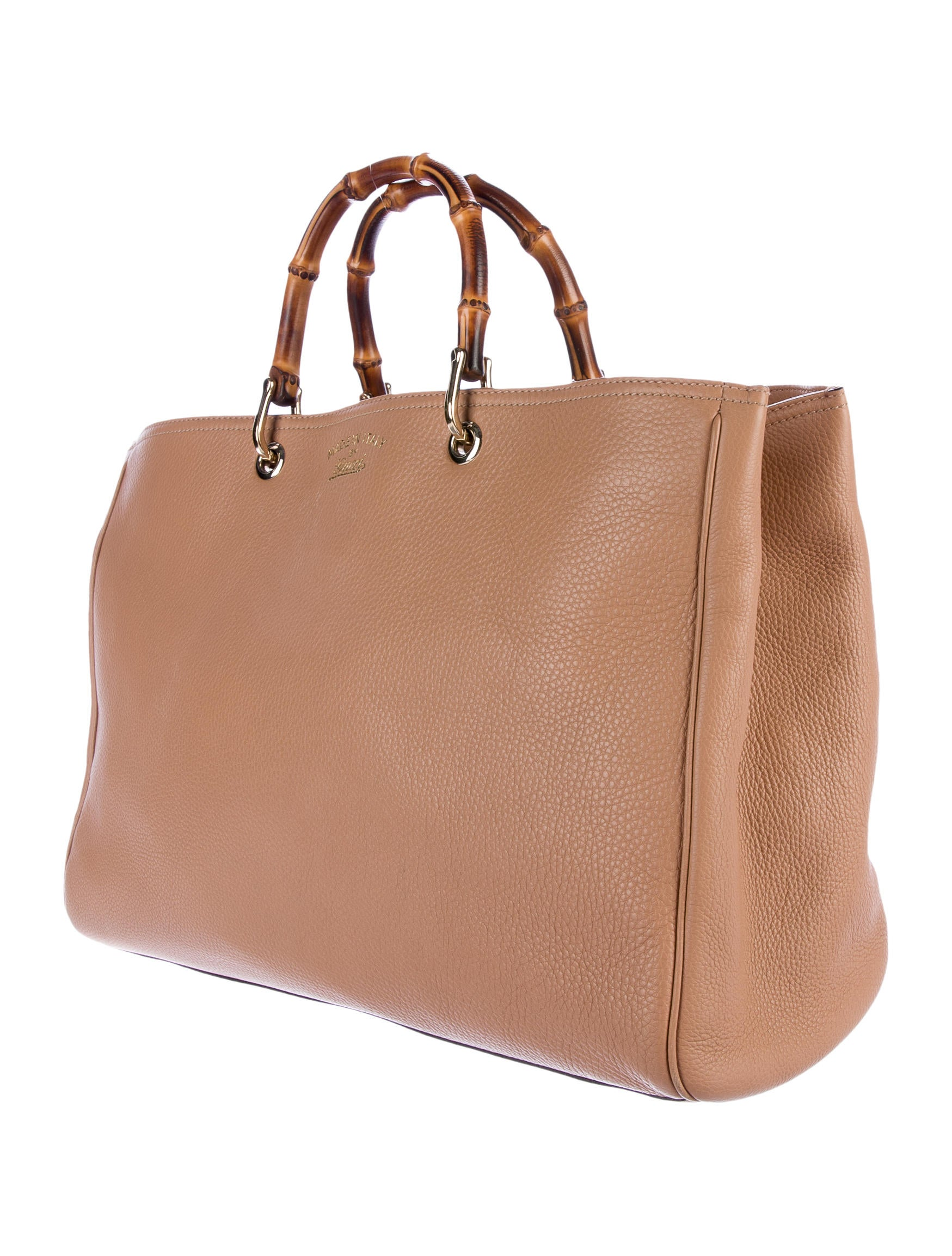 gucci large bamboo shopper handbags guc151230 the realreal. Black Bedroom Furniture Sets. Home Design Ideas