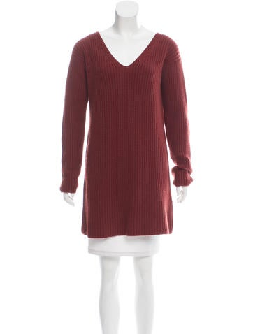 Gucci Longline Cashmere Sweater None