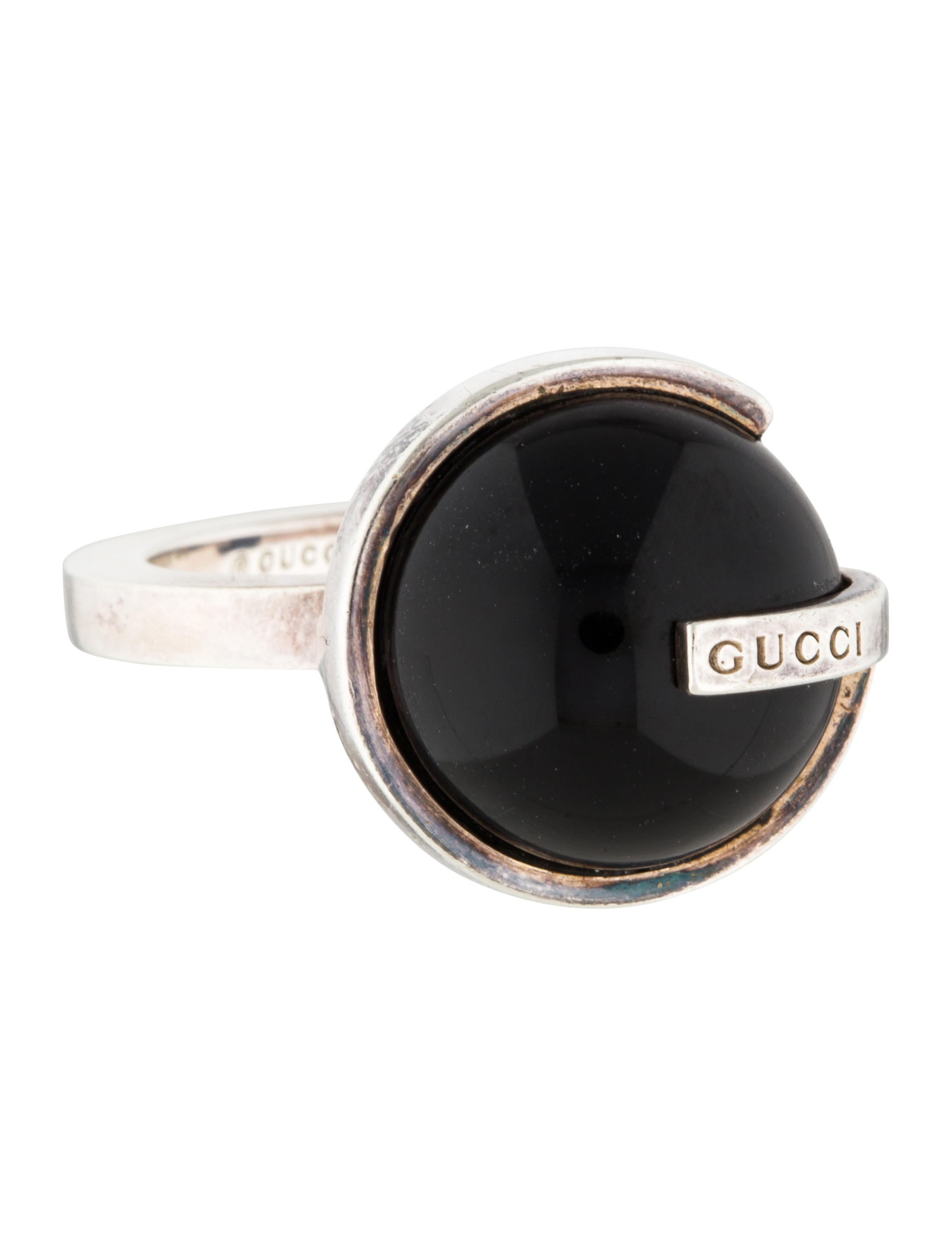 2a6725f72 Gucci Onyx Boule Ring - Rings - GUC151619