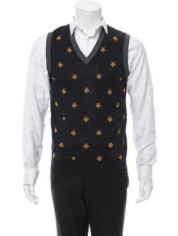 Gucci Wool Bees Waist Coat None