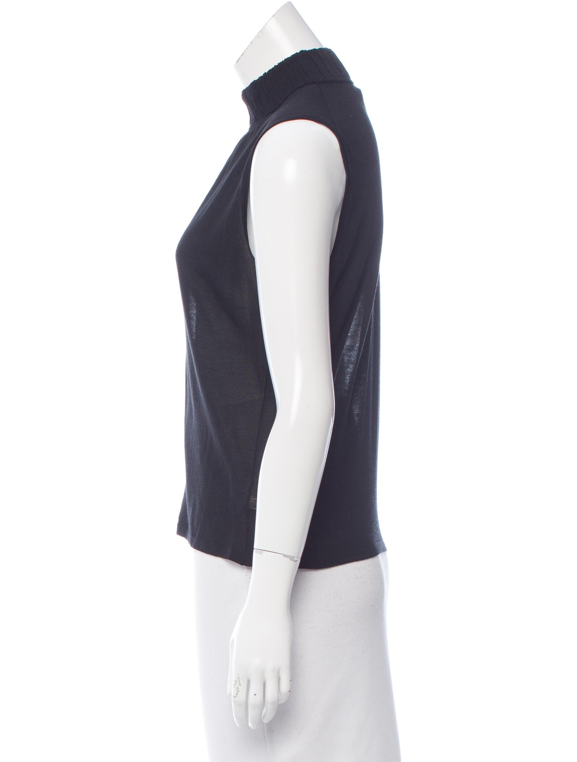 Gucci Sleeveless Mock Neck Top Clothing Guc151691