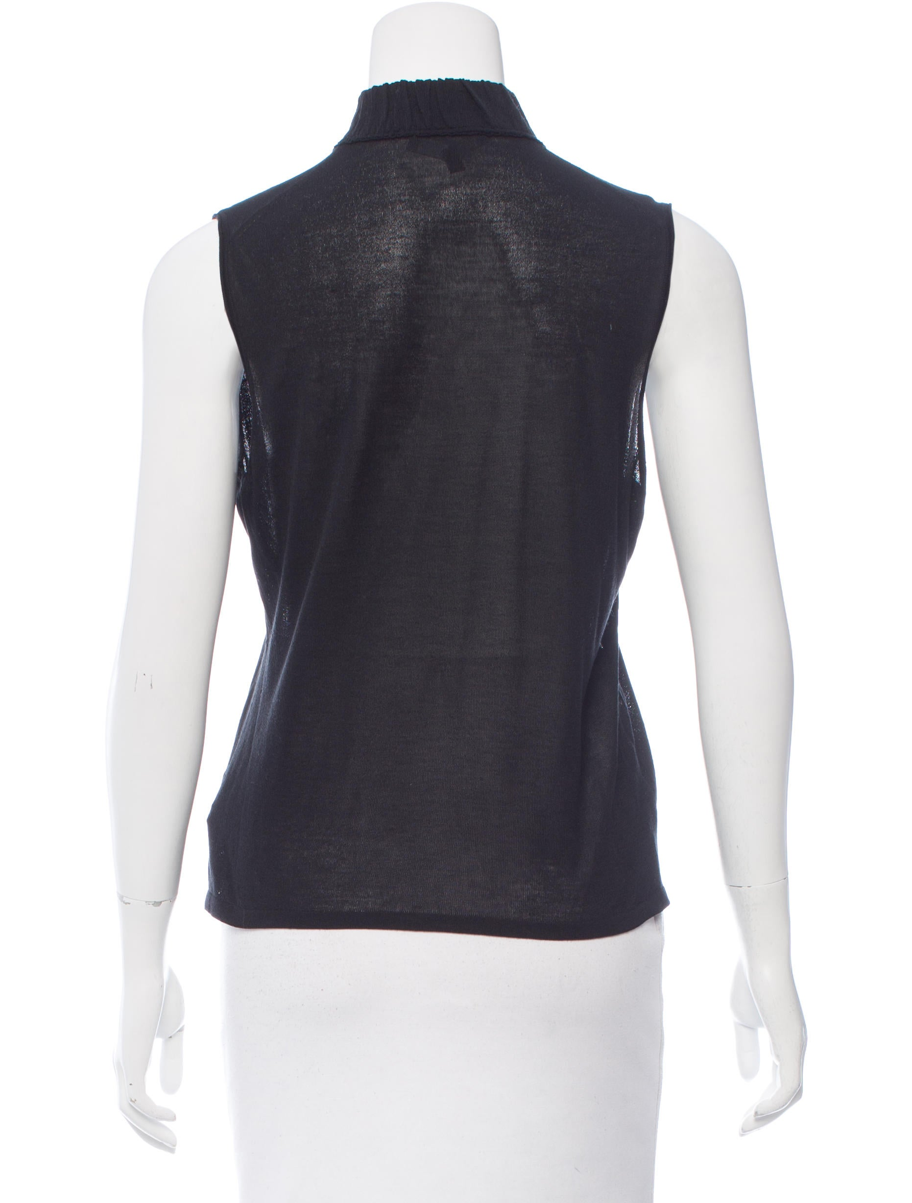 Gucci sleeveless mock neck top clothing guc151691 for Sleeveless mock turtleneck shirts