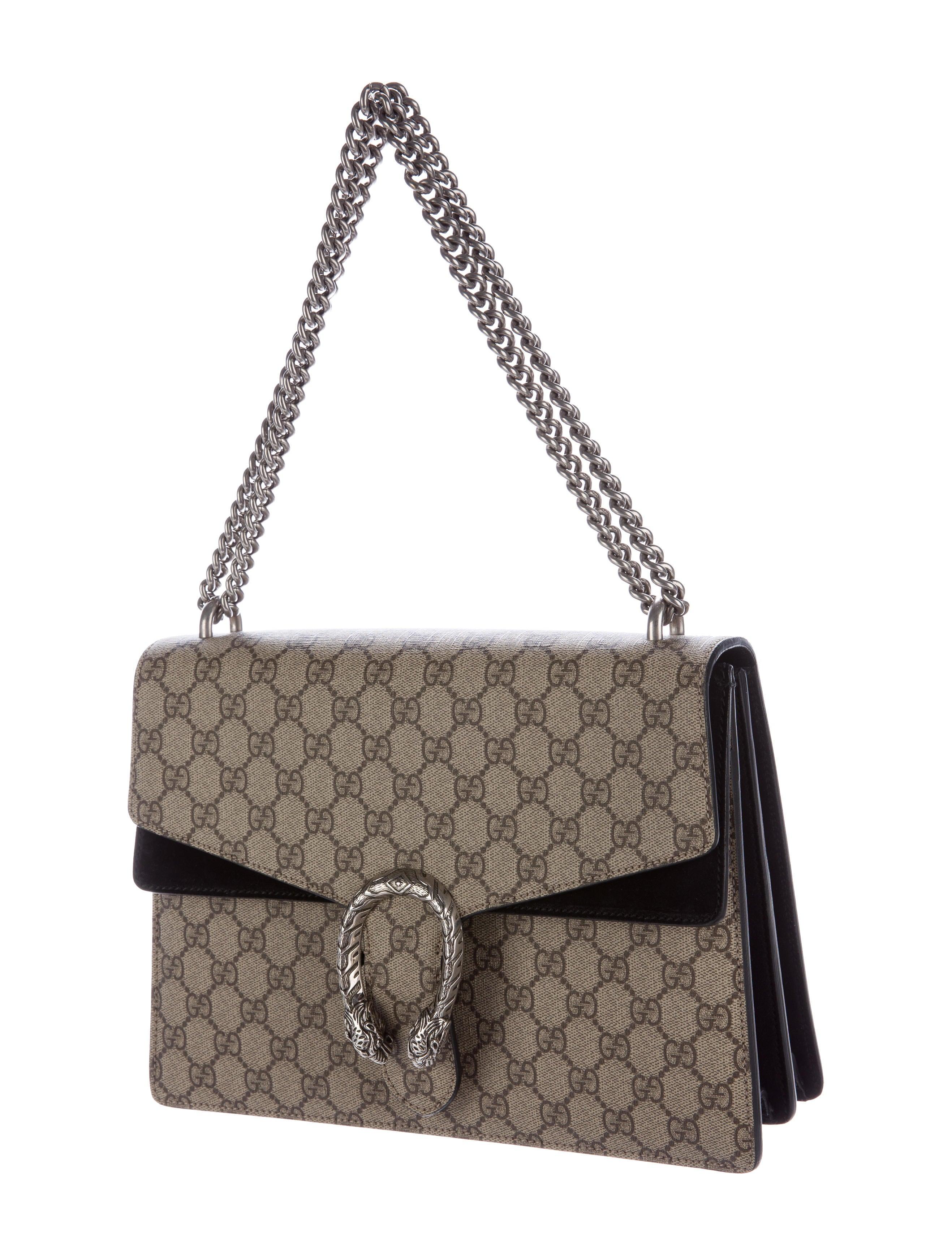 7bce5908dbc8 Gucci Gg Supreme Medium Shoulder Bag 523354 Dark Coffee | Stanford ...