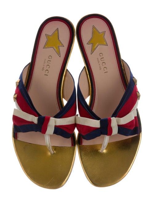 435effc3e5f Gucci Aline Web Thong Sandals - Shoes - GUC152096
