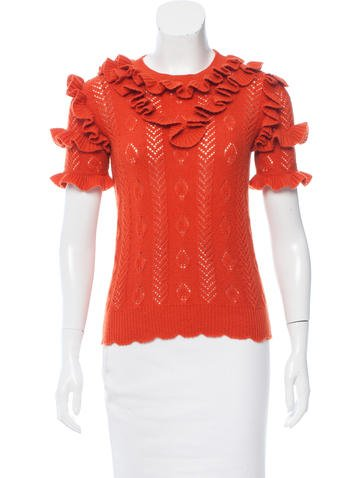 Gucci 2016 Ruffled Wool Top w/ Tags None
