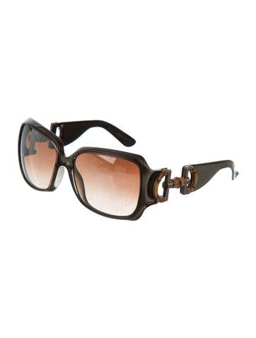 317fed8706 Gucci Reflective Bamboo Sunglasses - Accessories - GUC152473