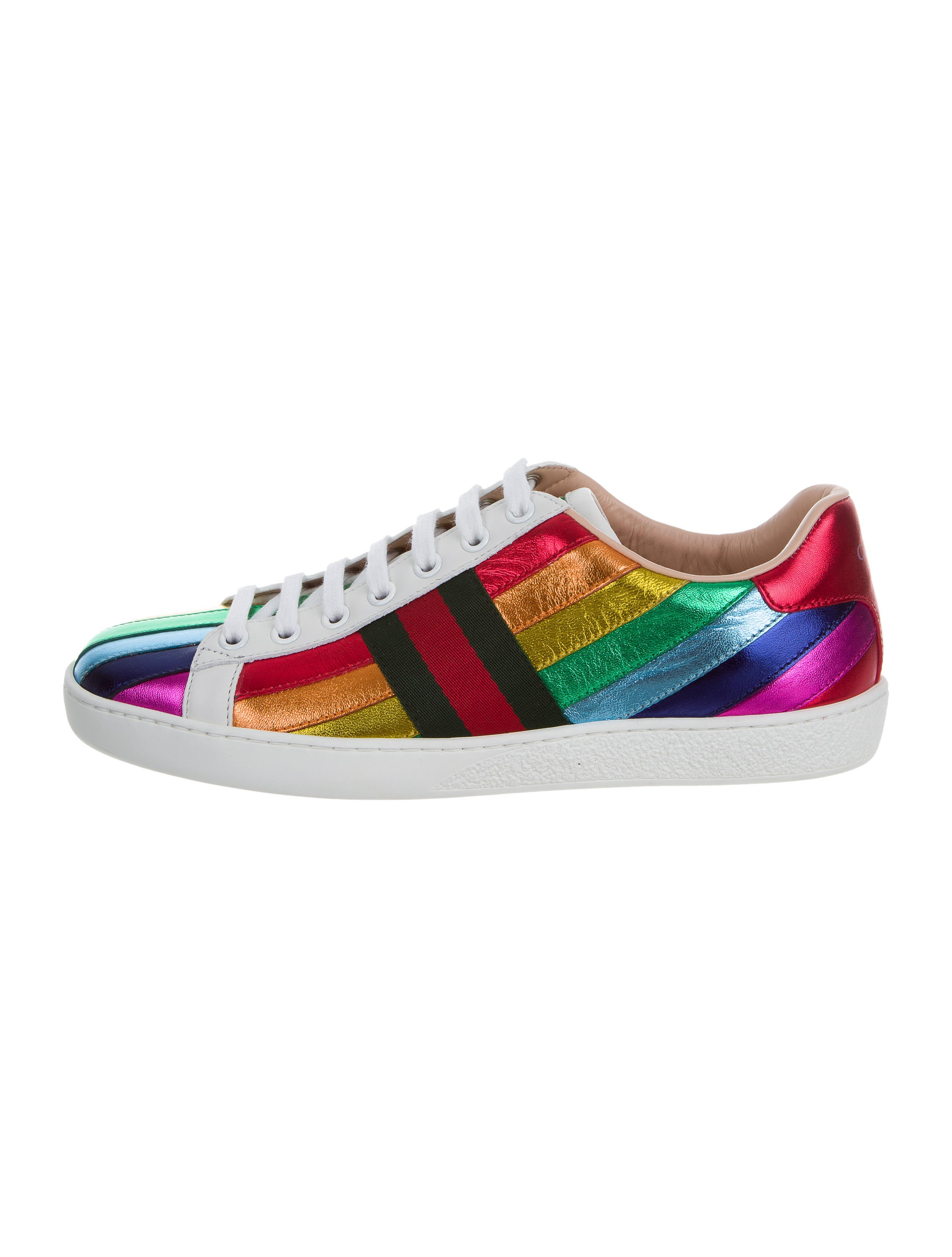 Gucci Ace Rainbow Sneakers w/ Tags