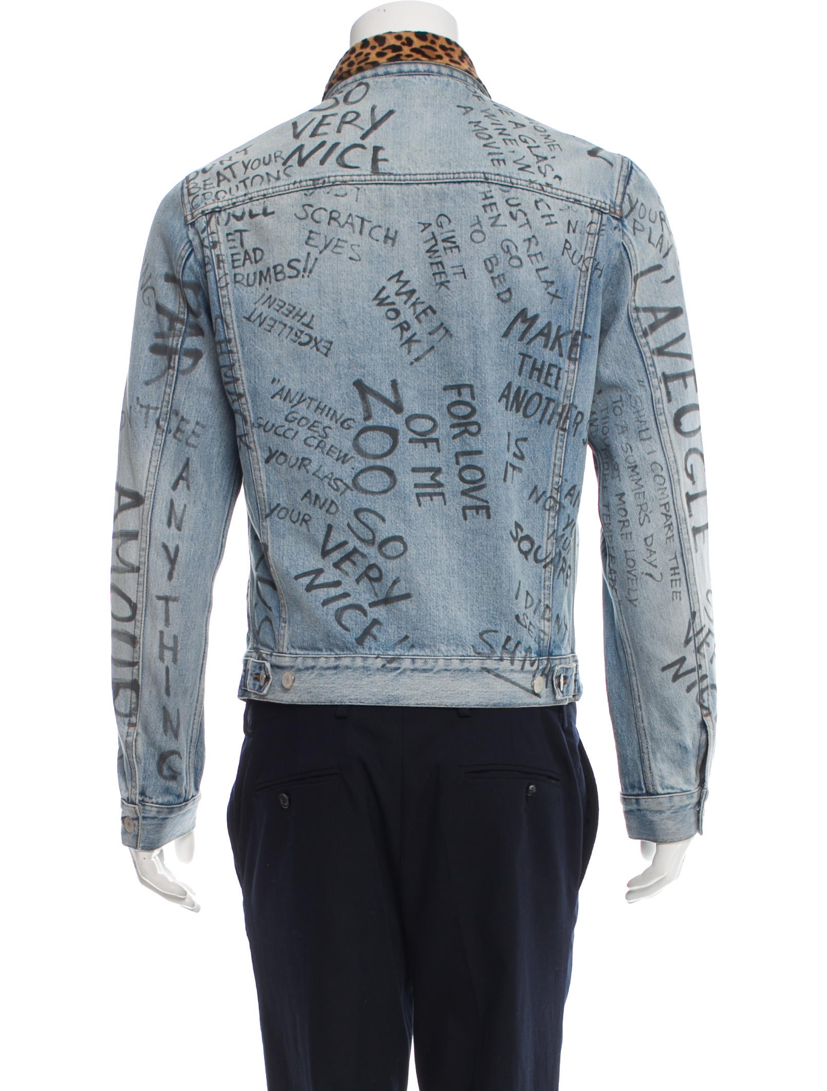 Gucci Scribbled Denim Jacket - Clothing - GUC152659 | The RealReal