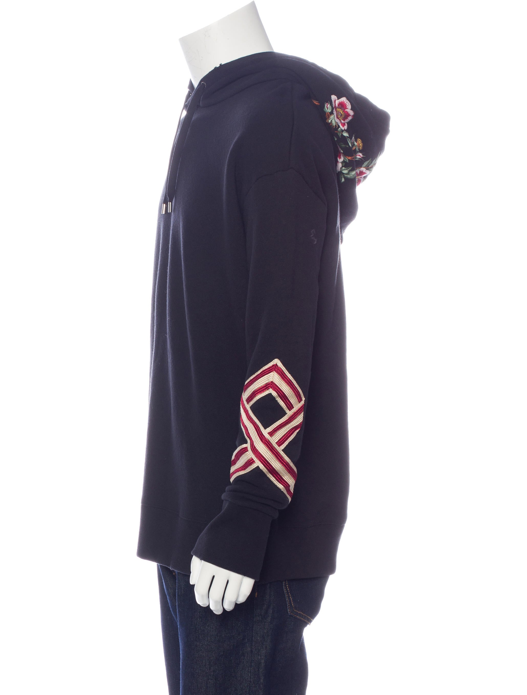 Gucci floral embroidered hoodie w tags clothing