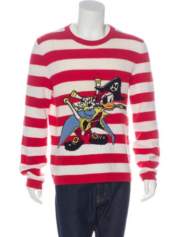 Gucci 2017 Pirate Donald Sweater None