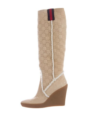 gucci guccissima wedge boots shoes guc153197 the