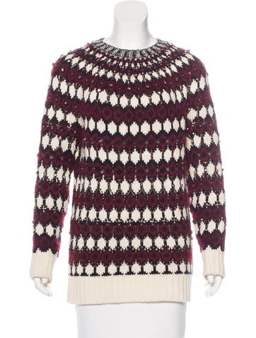 Gucci Wool Embellished Sweater None