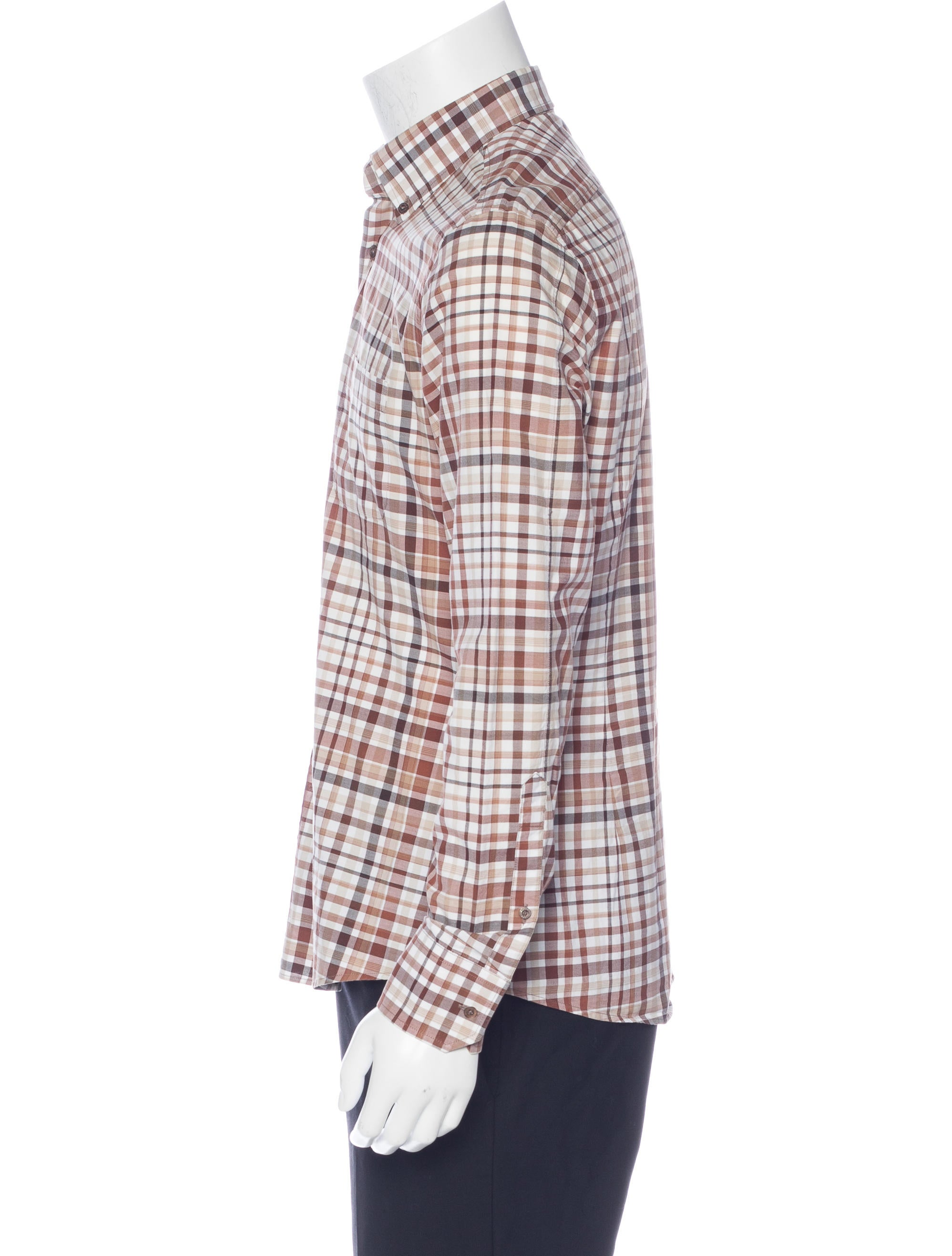 Gucci Plaid Button-Up Shirt - Clothing - GUC153547 | The ...