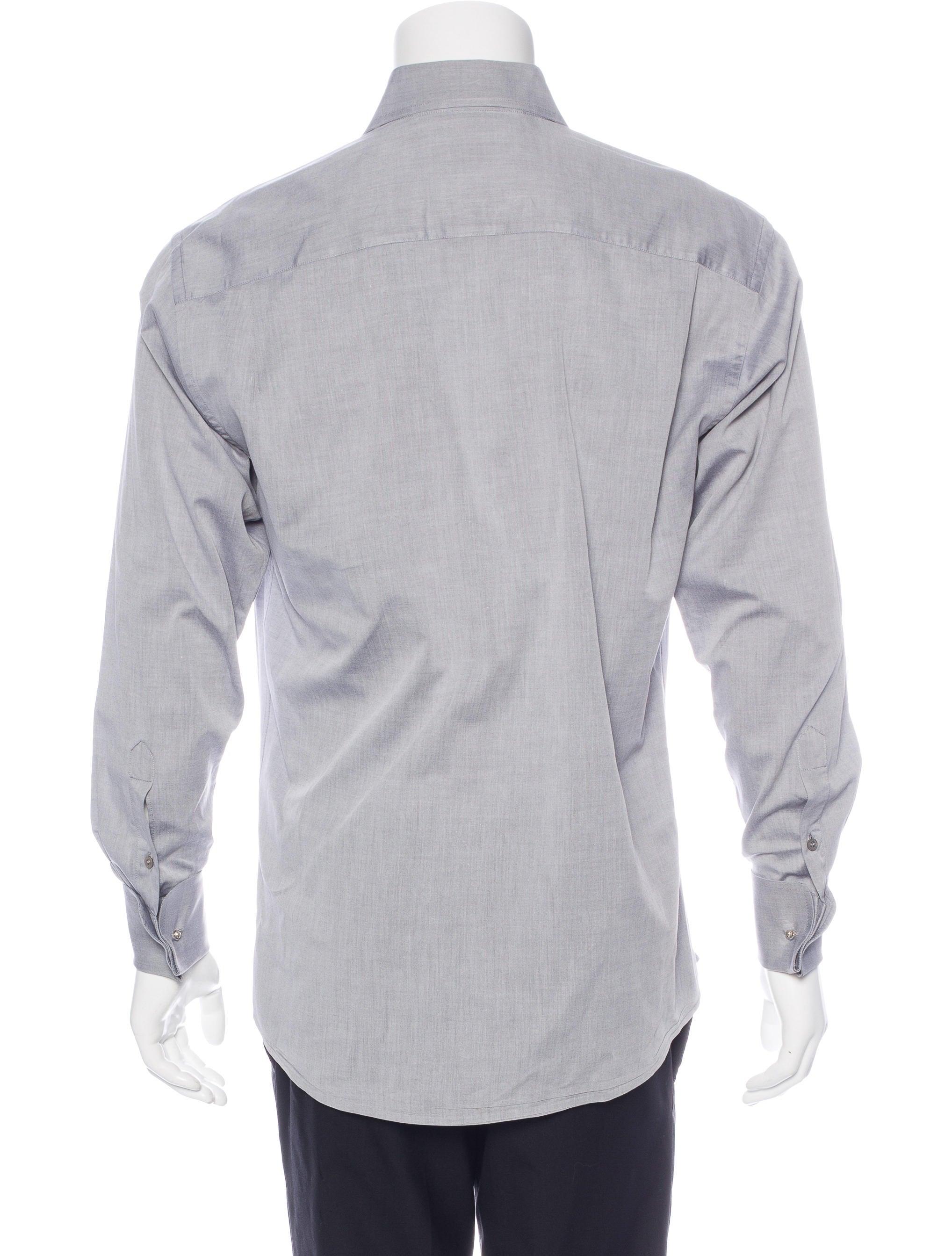 Gucci french cuff dress shirt clothing guc153576 the for Pin collar shirt double cuff