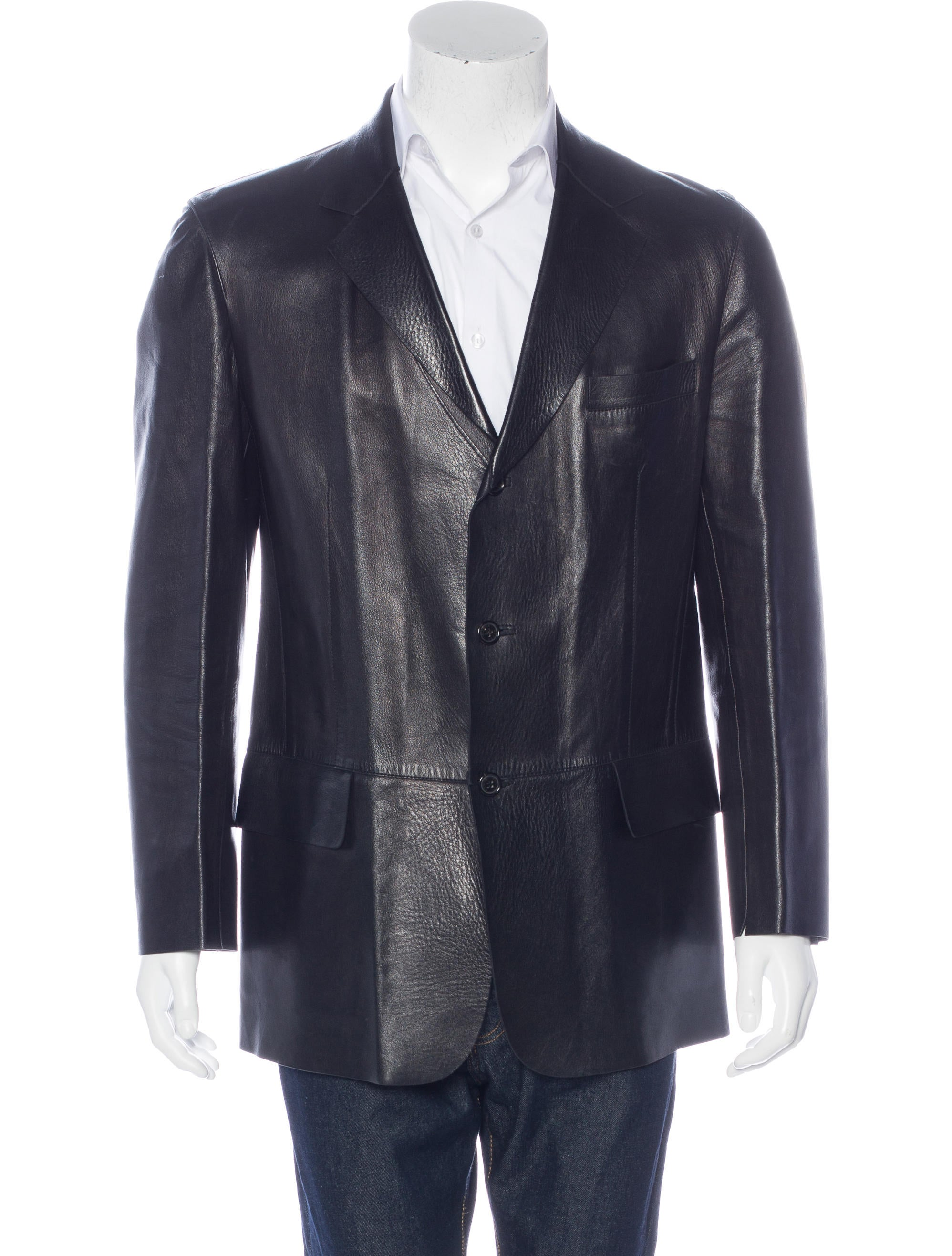 Gucci Leather Sport Coat - Clothing - GUC153676 | The RealReal