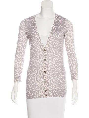 Gucci Cashmere & Silk-Blend Printed Cardigan None