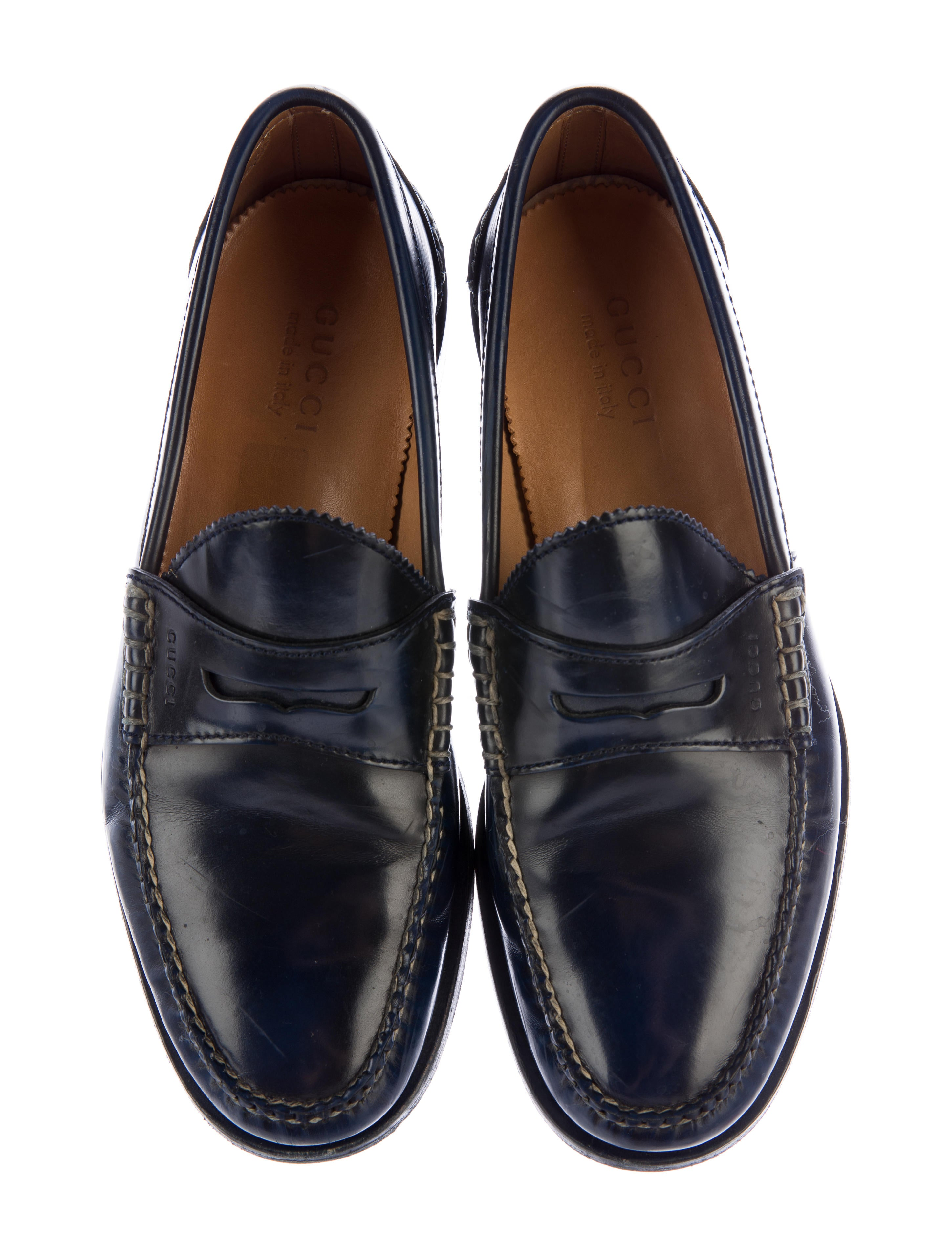 Gucci Leather Penny Loafers - Shoes - GUC153875 | The RealReal