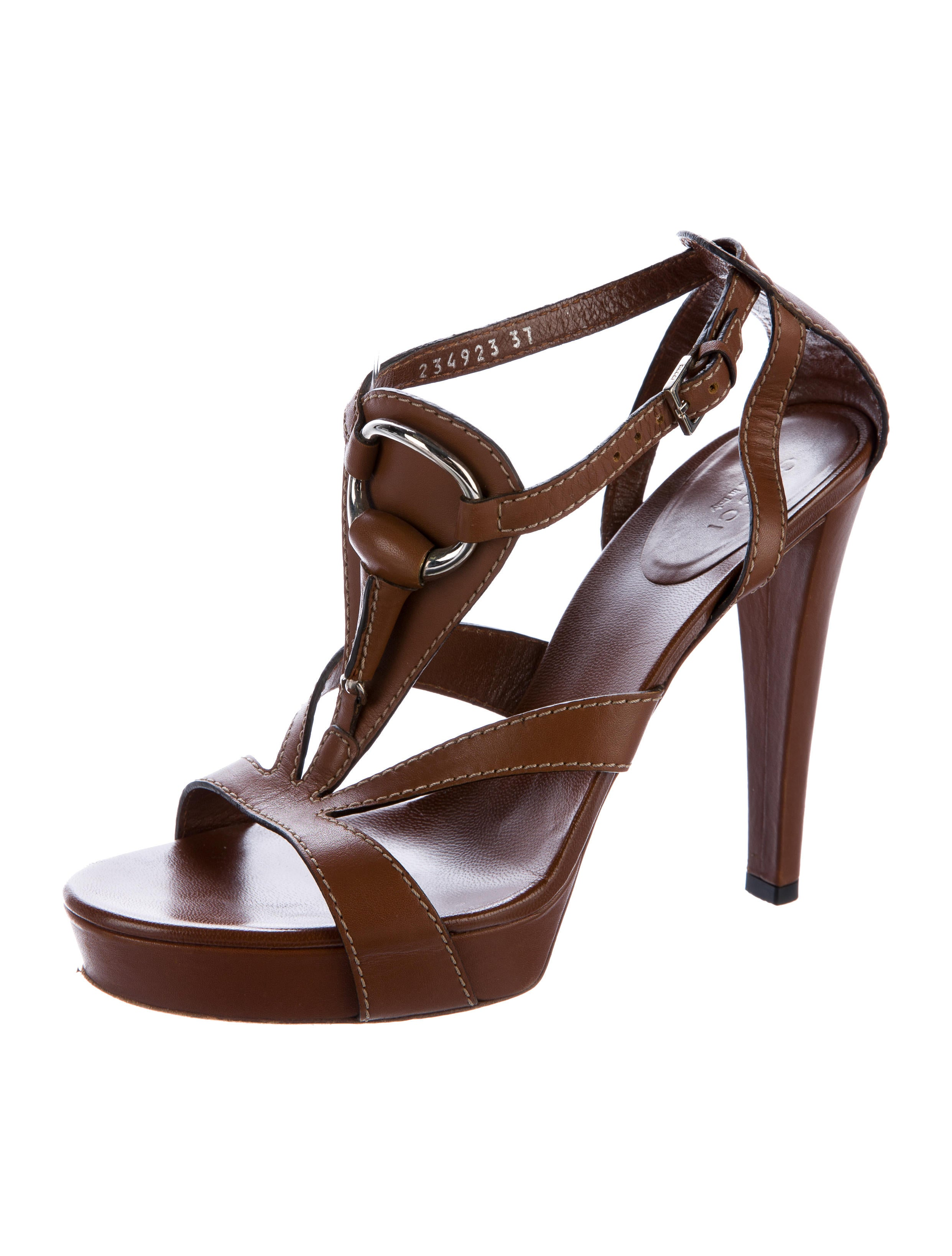 Gucci Leather Horsebit Sandals - Shoes - GUC153907 | The ...