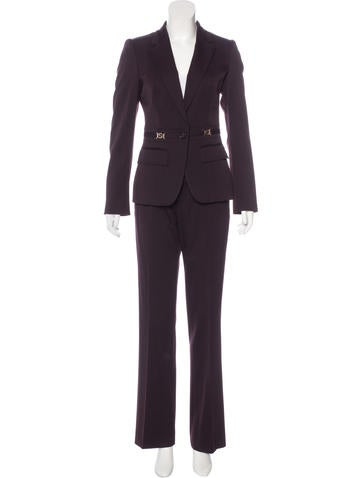 Gucci Wool-Blend Interlocking GG Pantsuit None