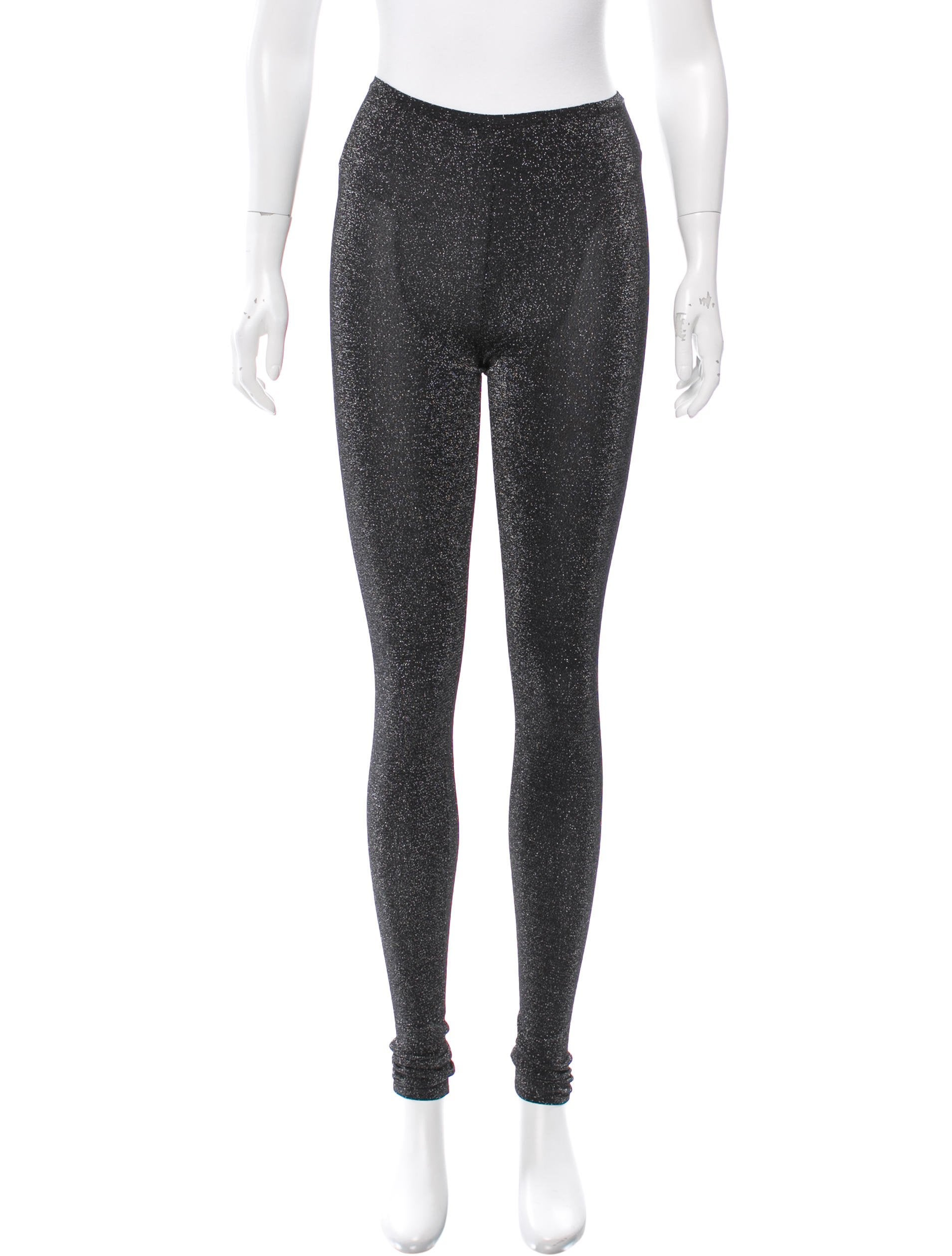 Gucci Metallic Skinny Leggings - Clothing - GUC154176 | The RealReal