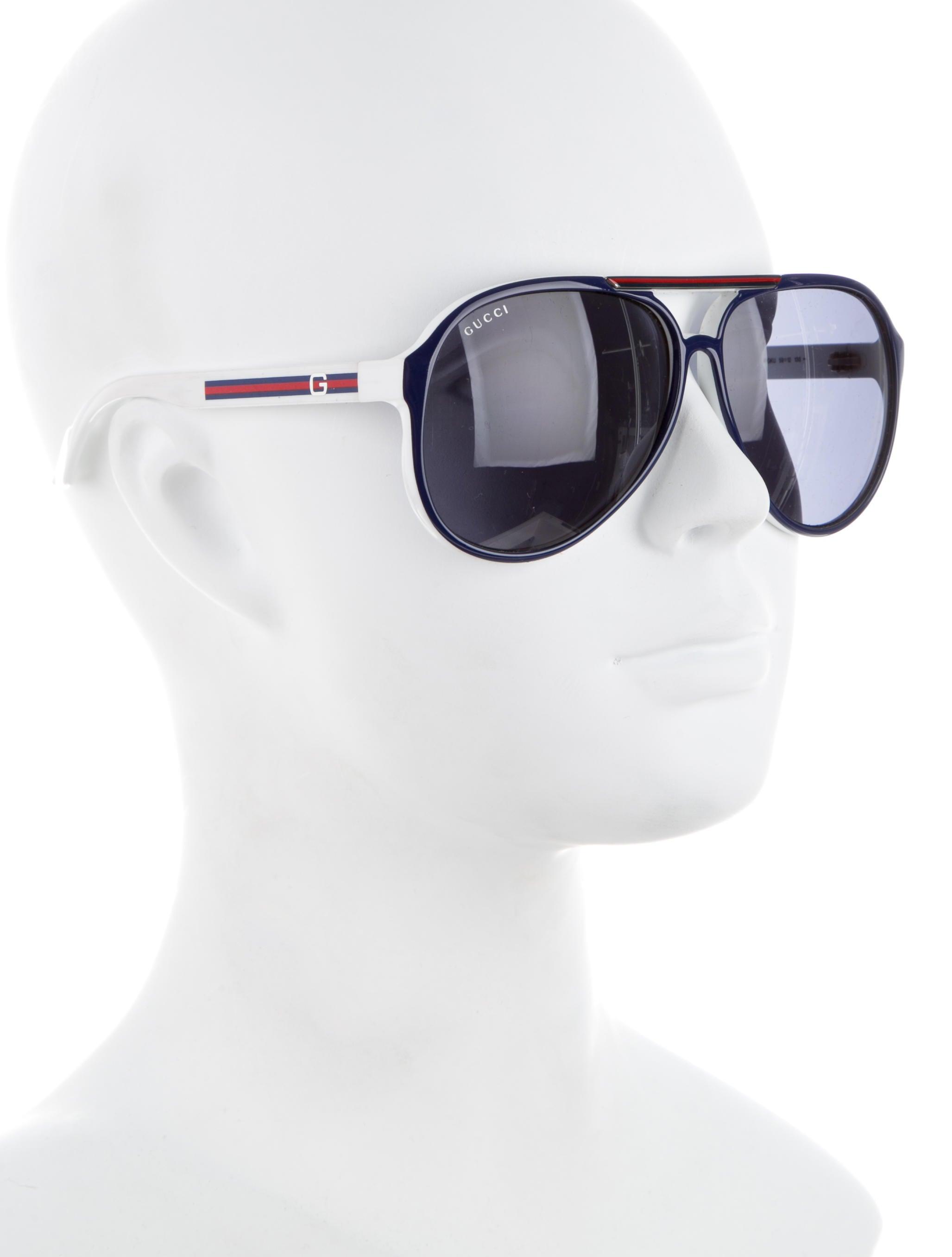 07713ed4f48 Gucci Aviator Sunglasses With Web
