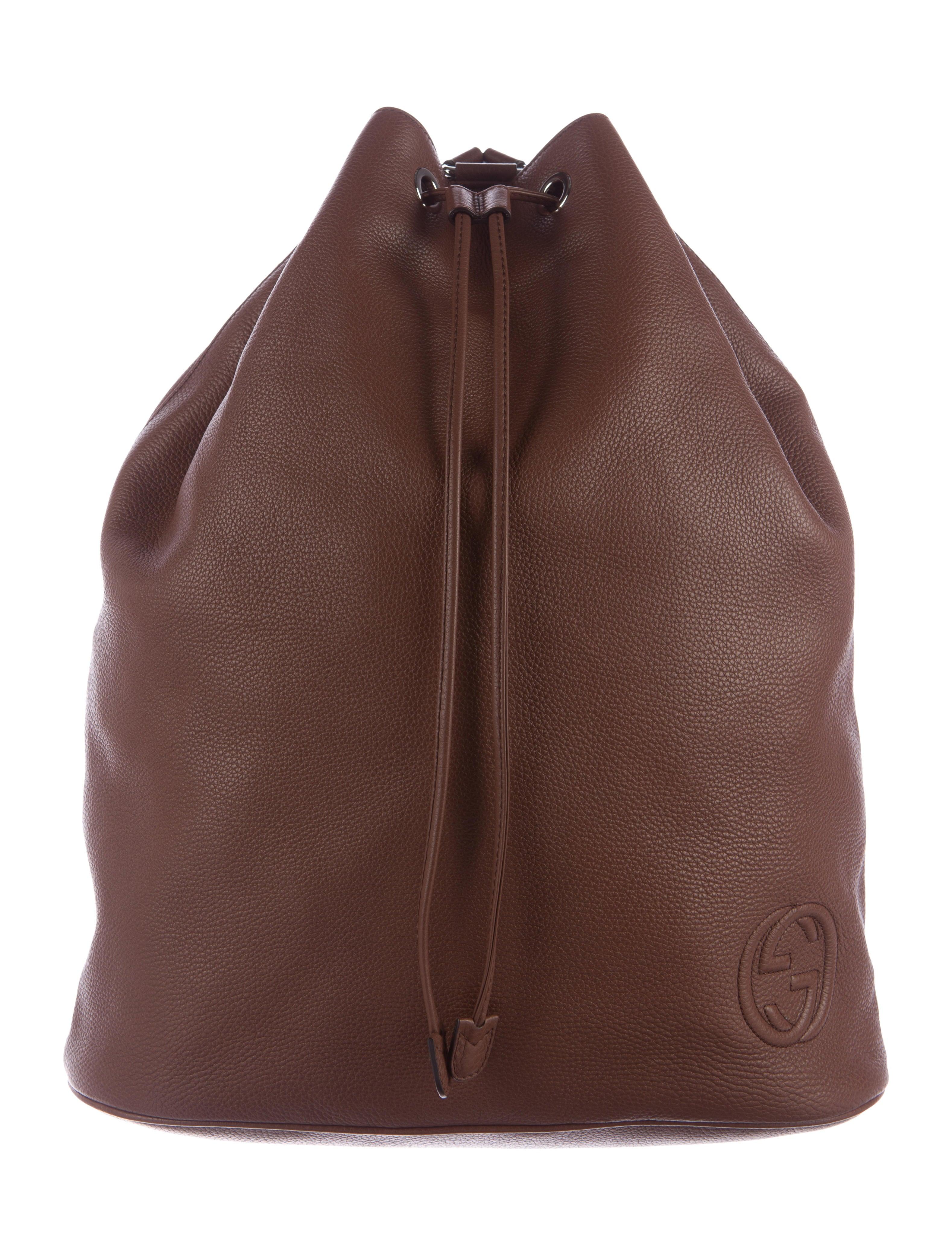 21a66ade910 Gucci Soho Drawstring Backpack - Handbags - GUC154459