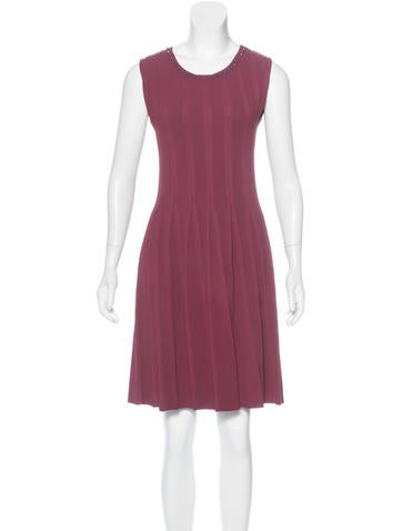 Gucci Rib Knit Knee-Length Dress None