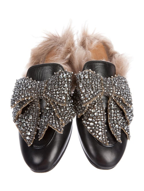 220e5d569ca3 Gucci 2017 Princetown Bow-Accented Fur-Lined Mules - Shoes ...