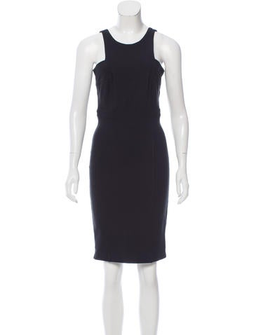 Gucci Sleeveless Knit Knee-Length Dress None