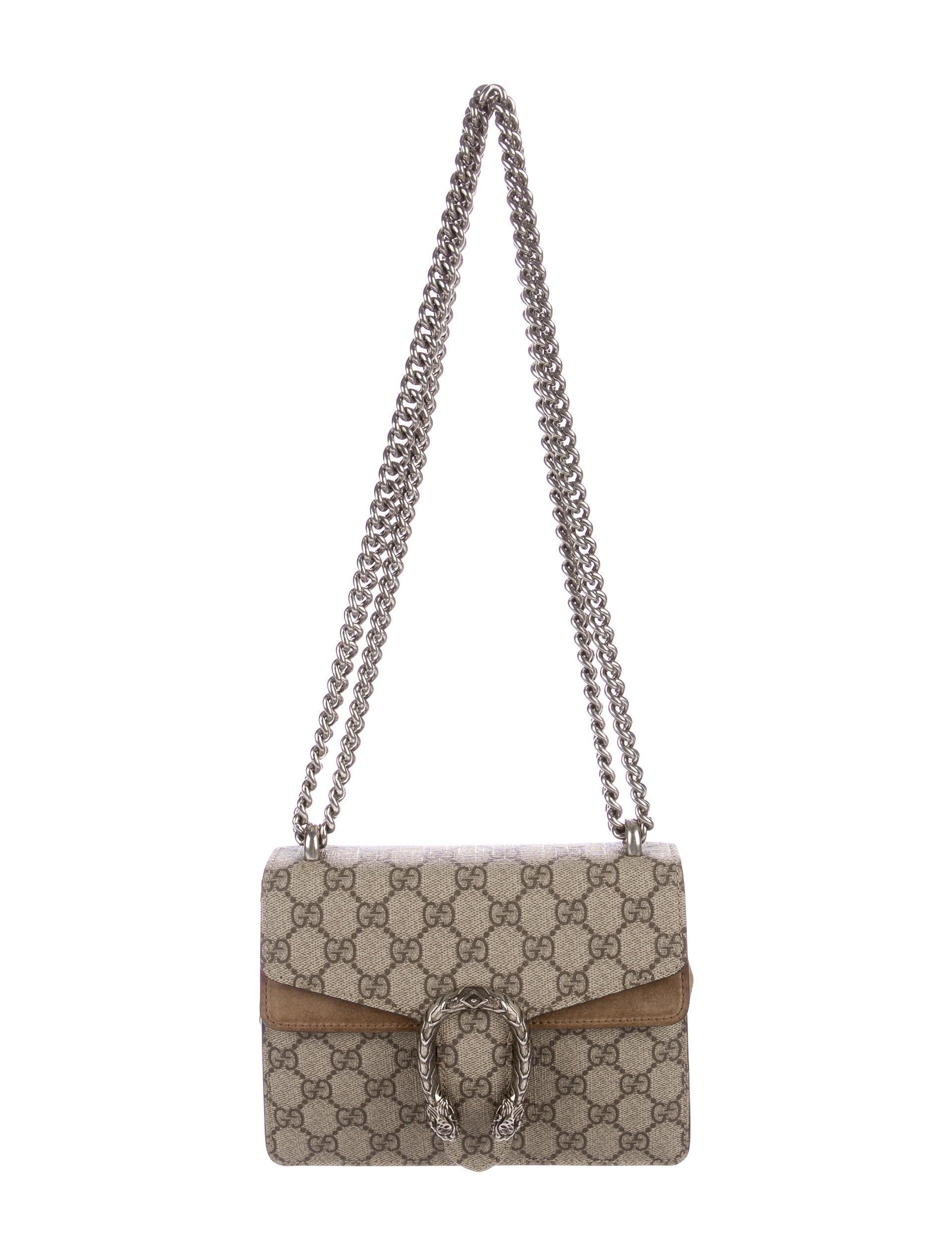 c28fe413c35e Gucci GG Supreme Mini Dionysus Bag - Handbags - GUC156198 | The RealReal