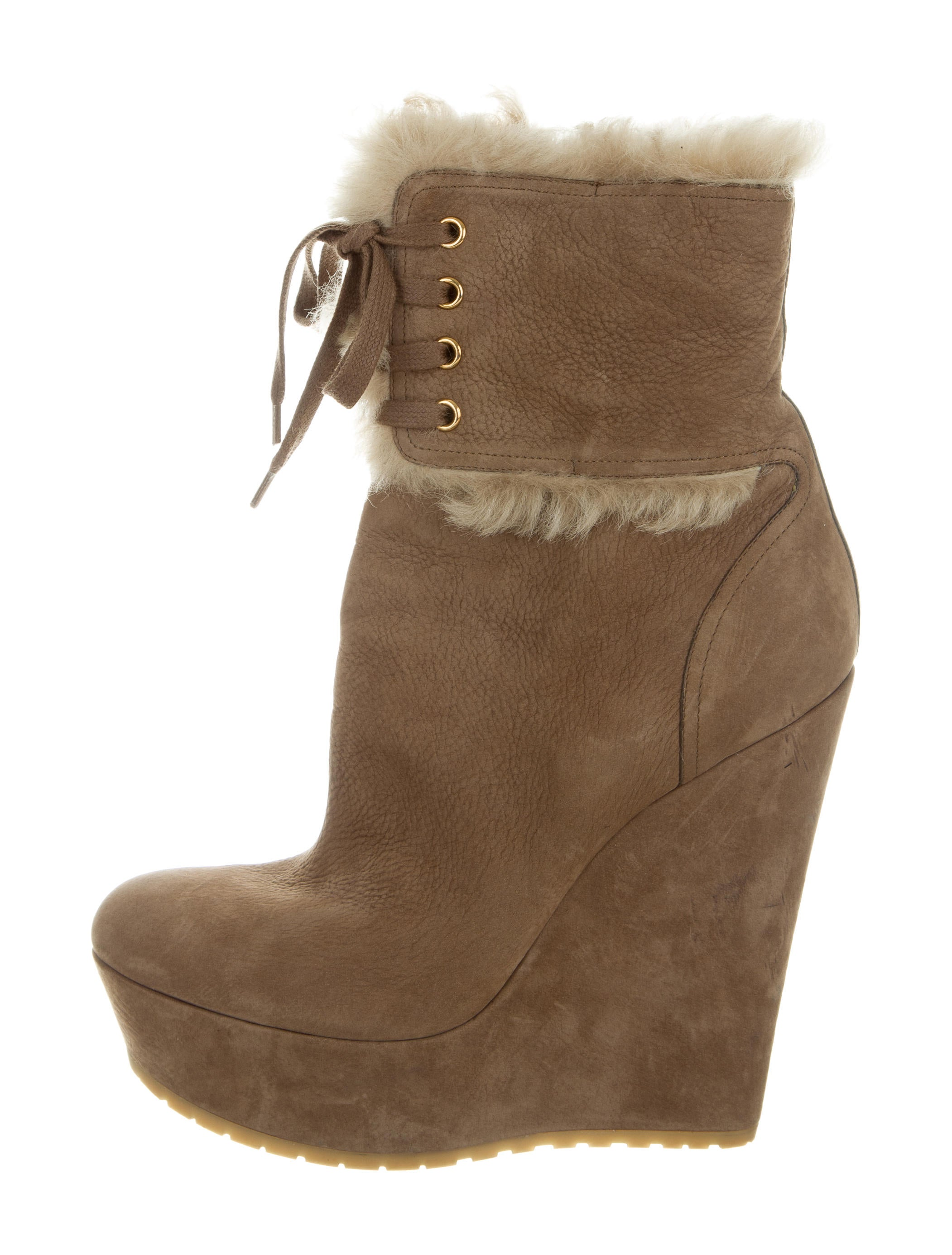 gucci suede wedge ankle boots shoes guc156321 the
