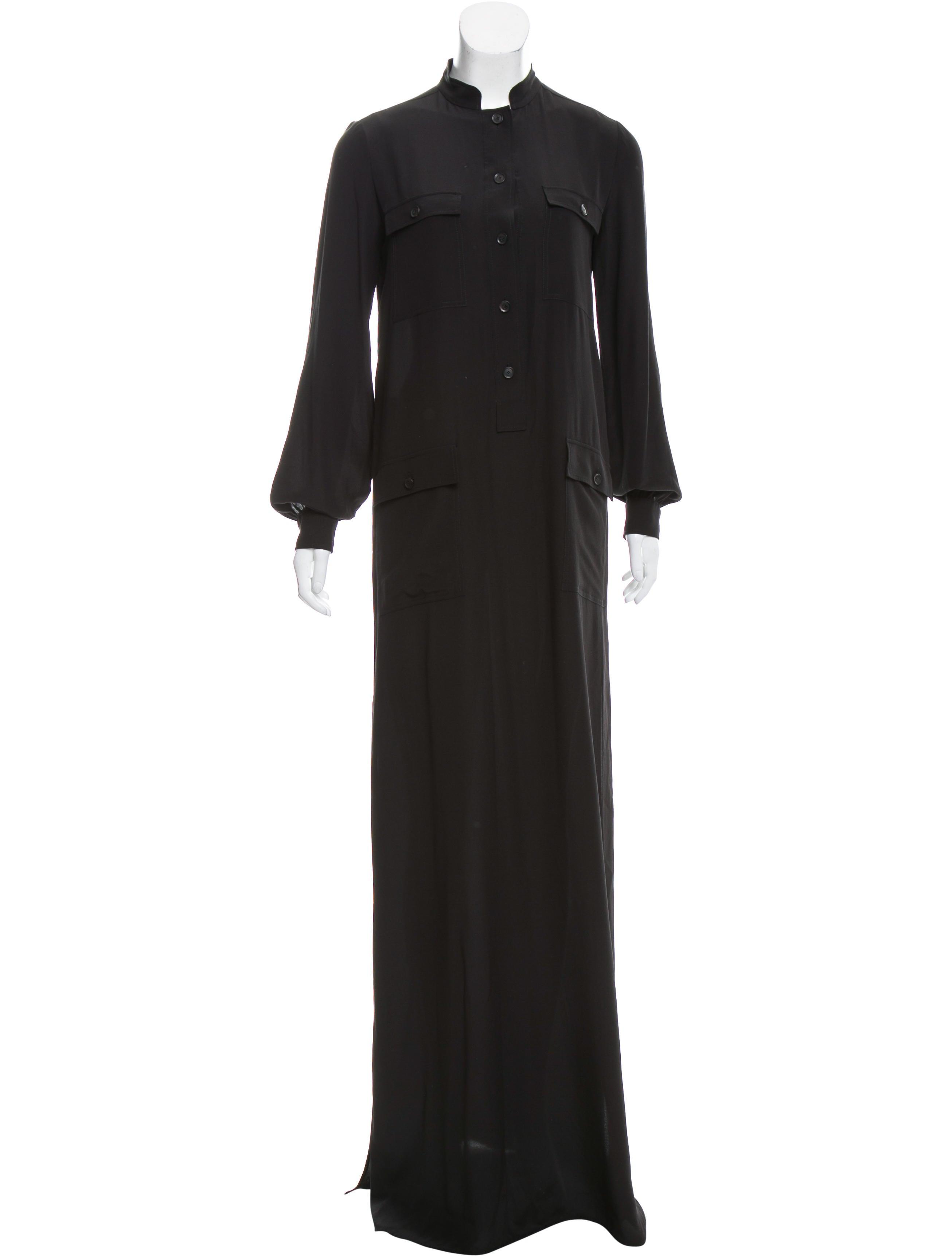 Gucci Maxi Silk Shirtdress Clothing Guc156427 The Realreal