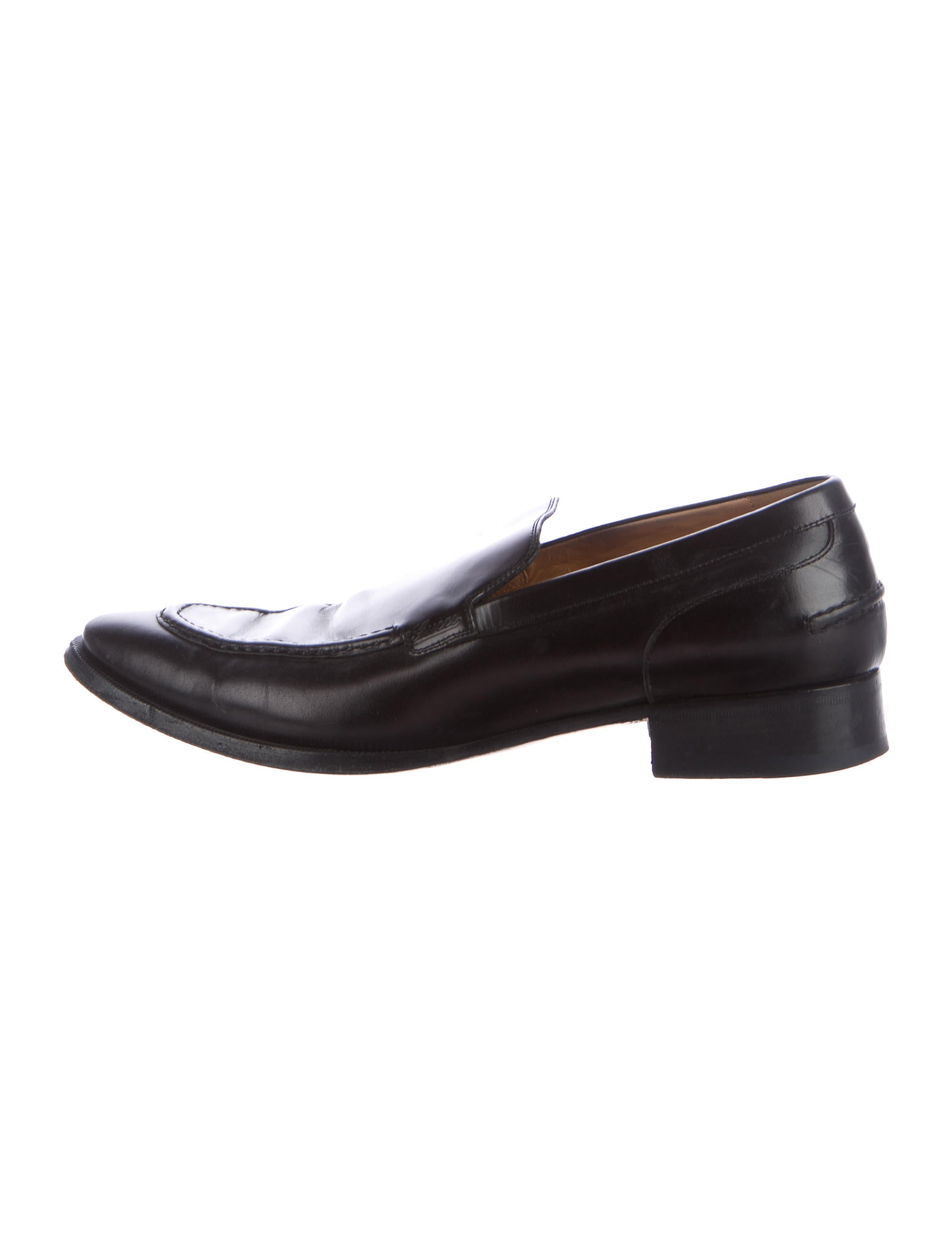 gucci leather dress loafers shoes guc156469 the realreal