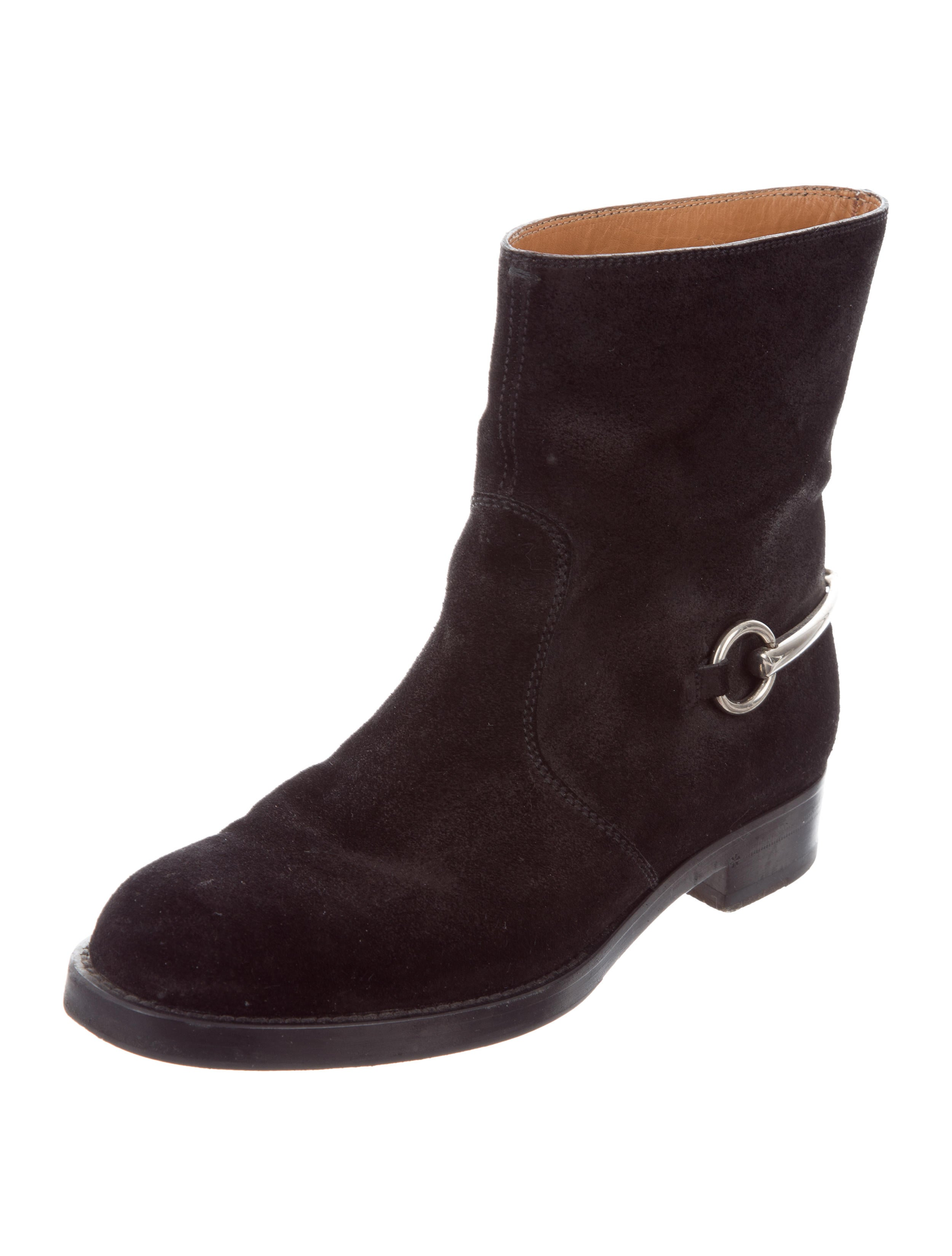 gucci horsebit suede ankle boots shoes guc156550 the