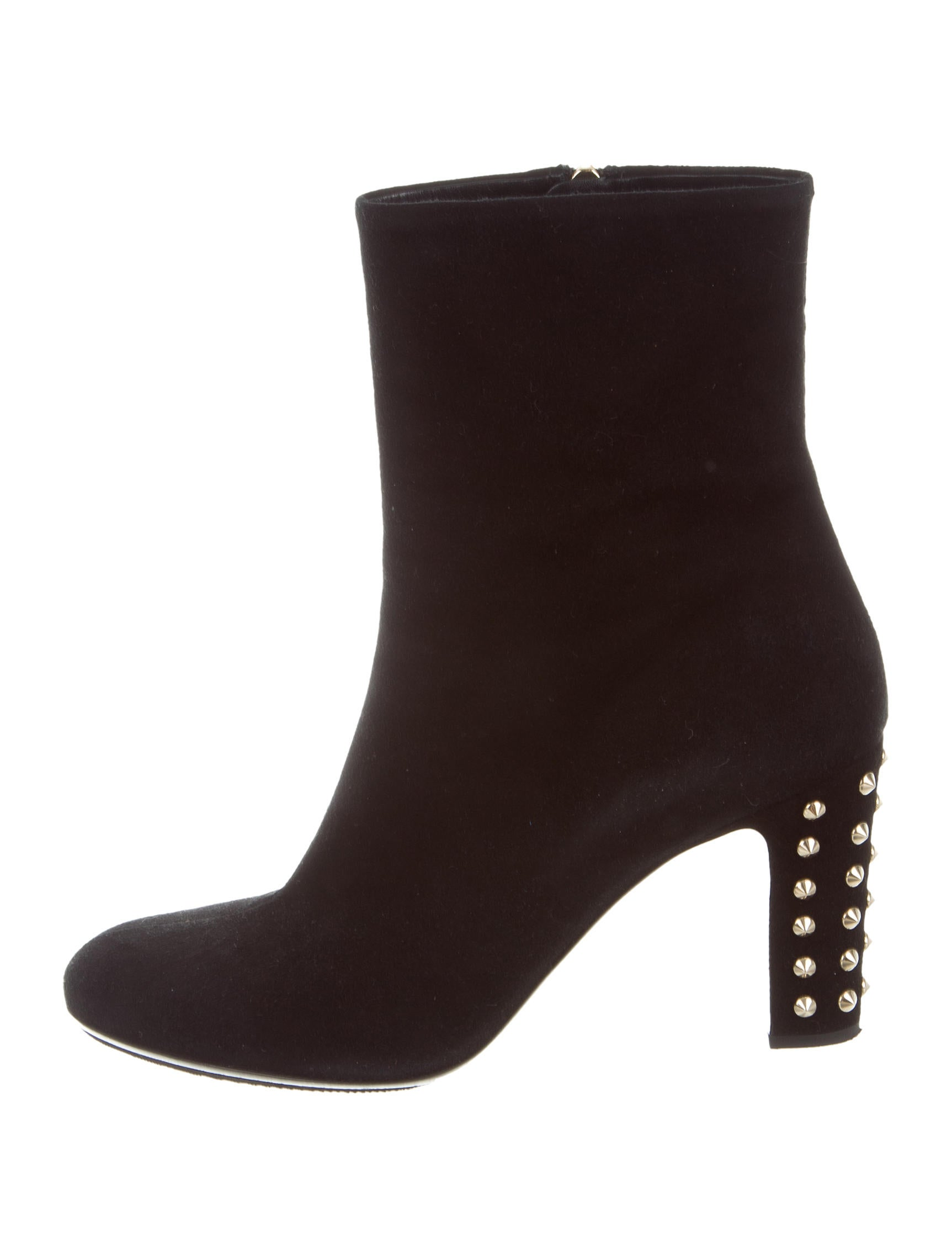 gucci studded suede boots shoes guc156593 the realreal