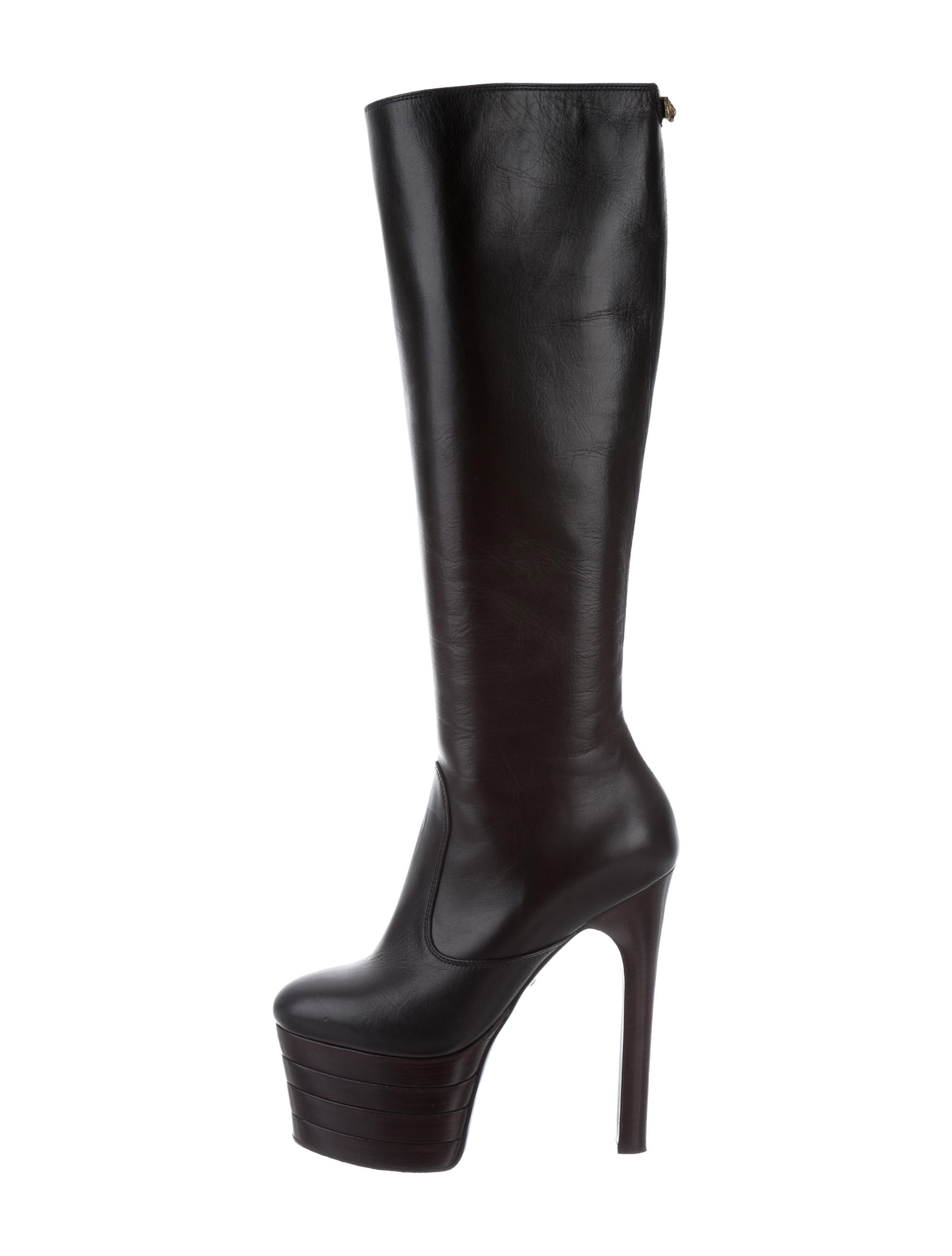 gucci knee high platform boots shoes guc156749 the