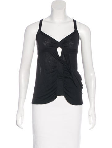 Gucci Sleeveless Draped Top None