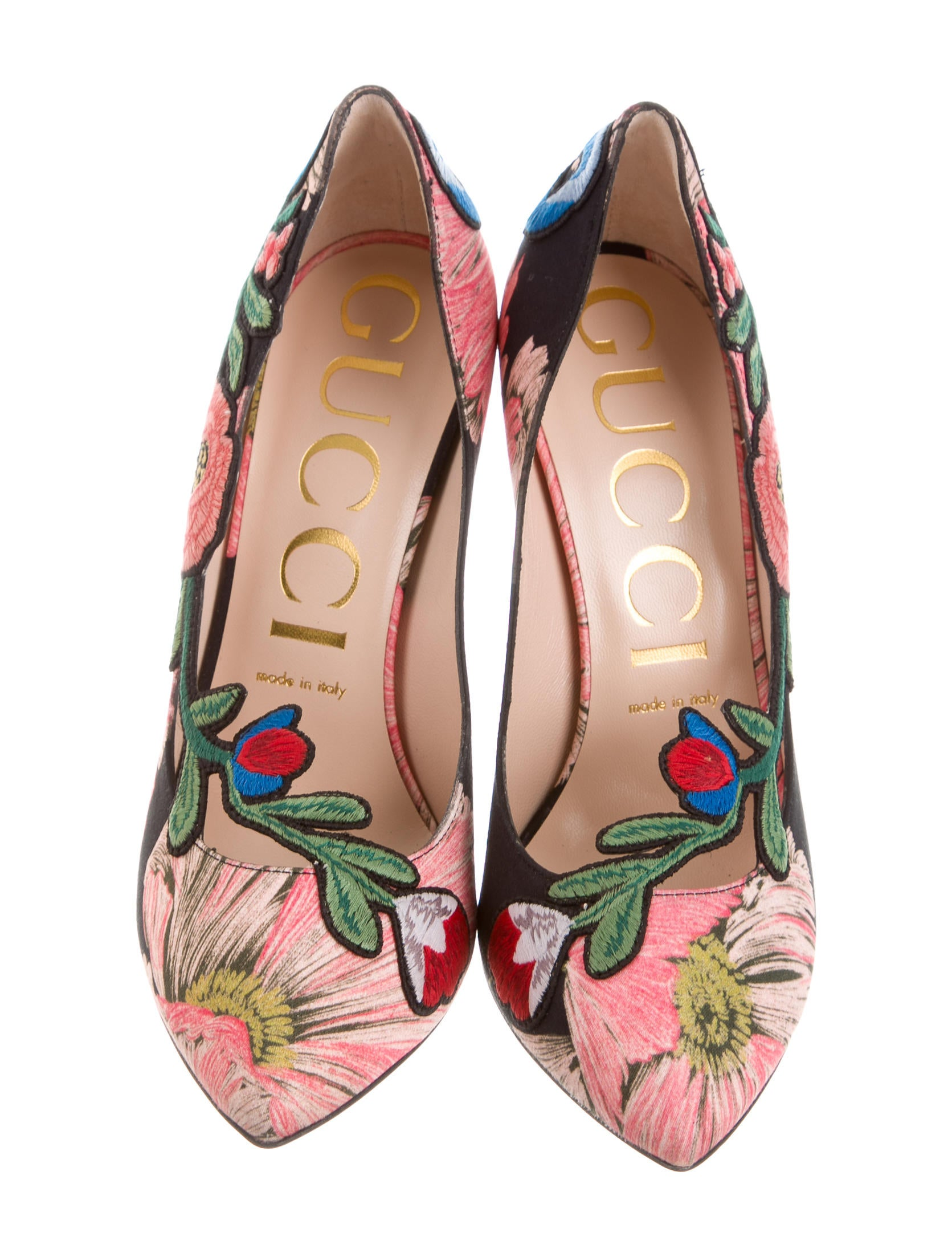 gucci 2017 floral embroidered pumps w   tags - shoes