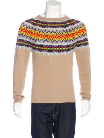 Gucci Fair Isle Wool Sweater None