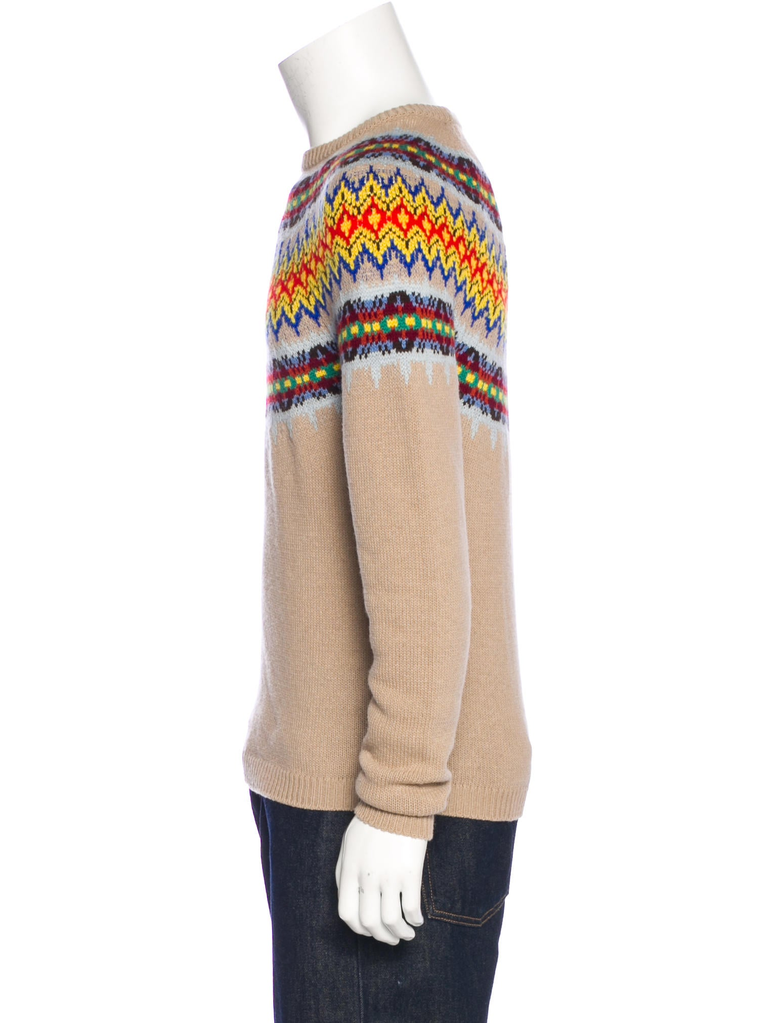 Gucci Fair Isle Wool Sweater - Clothing - GUC157648 | The RealReal